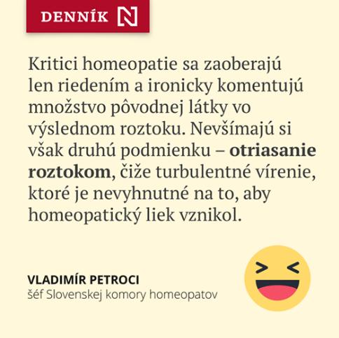 O homeopatii a slovenských celebritách
