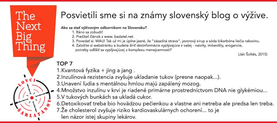 Bez servítky o ďalšom slovenskom expertovi na výživu